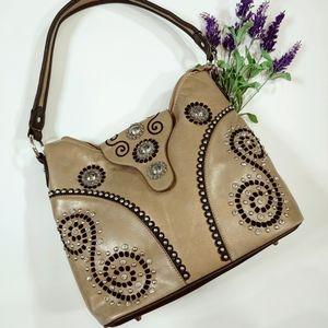 Montana West Conceal Carry Shoulder Bag Western
